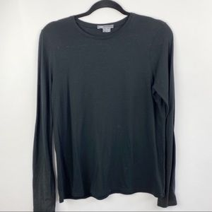 Vince black long sleeve tee with pockets
